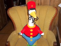 Toy Soldier Geese Goose Crochet Outfit Outdoor Statue Decor in Belleville, Illinois