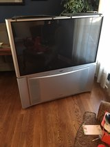"Hitachi 51"" projection screen tv w/ shelves in Naperville, Illinois"