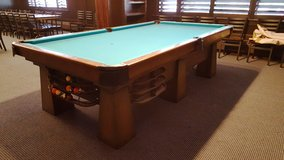 J. C. McFarland Co. Art Metal Billiard Table 1920's  4.5 x 9 feet in Batavia, Illinois