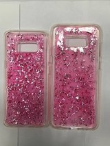 galaxy s8 and s8 plus glitter pink case in Indianapolis, Indiana