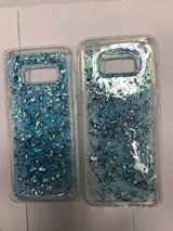 galaxy s8 and s8 plus glitter blue case in Indianapolis, Indiana