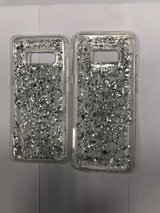galaxy s8 and s8 plus glitter silver case in Indianapolis, Indiana