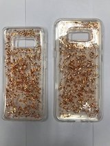 galaxy s8 and s8 plus glitter gold case in Indianapolis, Indiana