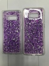 galaxy s8 and s8 plus glitter purple case in Indianapolis, Indiana
