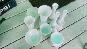 11-Milk glass Vintage Vases $15.00 all in Quad Cities, Iowa