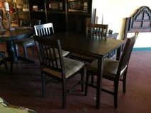 Solid Wood Kitchen Table and Chairs in Fort Polk, Louisiana