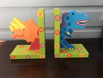 Bright / Colorful Dinosaur Wooden Bookends for Kids in Lockport, Illinois