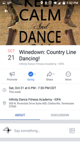 Country line dance class 10/21 Infinity Dance studio in Fort Campbell, Kentucky