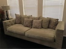 couch and pillows in Conroe, Texas