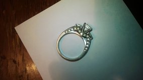 sterling silver cz ring size 7 in Fort Campbell, Kentucky