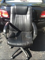 Office chair   Black. Swivels.  Adjustable. Taped areas in Batavia, Illinois