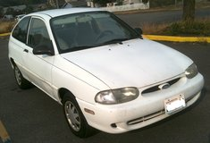 Ford Aspire 2dr hatchback, 4cyl, AT, AC, daily driver in Tacoma, Washington