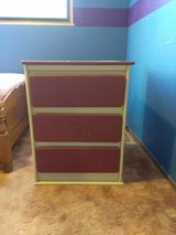 Heavy wood 3-drawer dresser in Vacaville, California