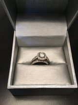 1-3/4 CT. T.W. Diamond Framed Bridal Set in 14K White Gold (Size 4) in Nellis AFB, Nevada