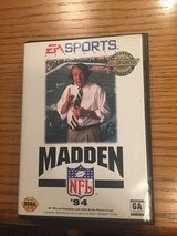 Sega Madden NFL '94 Video Game Cartridge, Case & Manual in Naperville, Illinois