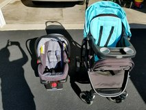 Graco travel system click connect with snugrite 30xl in Batavia, Illinois