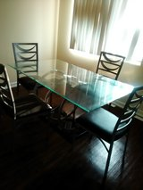 Glass table and 4 chairs in Naperville, Illinois