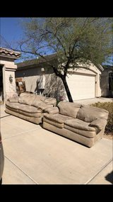 Micro fiber suede material couch and love seat in Phoenix, Arizona