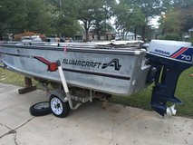 16' Alumacraft Deep V Aluminum Boat with 70 HP Nissan Motor in Leesville, Louisiana