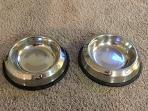 Two Metal Dog Bowls in Naperville, Illinois