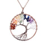 Tree of life pendant Amethyst Rose Crystal Necklace in Fort Campbell, Kentucky