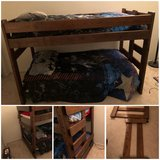 Wood bunk beds in Travis AFB, California