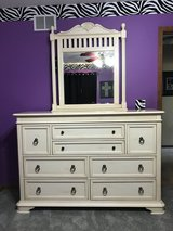 Dresser and queen bed frame in Yorkville, Illinois