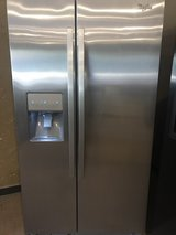 Stainless Whirlpool refrigerator in Kingwood, Texas