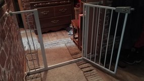 Baby safety gate with extension on sides( 110/115 wide in Ramstein, Germany