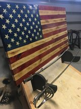 Wooden American Flags in Fort Rucker, Alabama