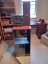 Emerson AMFM Stereo Compact Disc Player Dual Cassette System with Kenwood Cabinet in Cherry Point, North Carolina