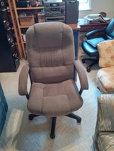 High Back Gray Fabric Executive Swivel Chair with Arms in Cherry Point, North Carolina