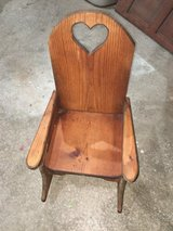 Child's rocking chair in Plainfield, Illinois