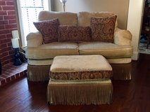 Designer Loveseat and matching ottoman- Non flood / Non Smoking (Free delivery 5 mile radius) in Spring, Texas