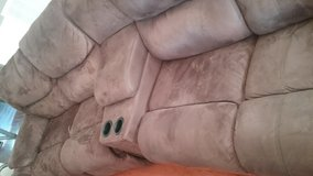 Couch microfiber brown in Kingwood, Texas