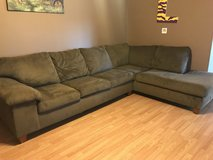 L shaped sectional tanish/green color in Fort Polk, Louisiana