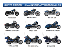 Do YOU want a 115th Anniversary Harley Davidson? in Wiesbaden, GE