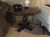 Walnut octagon side table in Tinley Park, Illinois