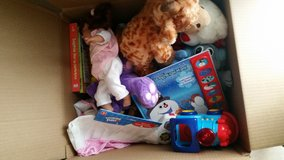 Box of Toys, Books, Stuffed Animals in Lawton, Oklahoma