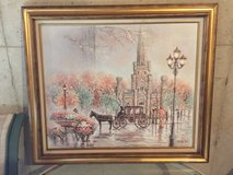 Oil painting old Chicago water tower in Westmont, Illinois