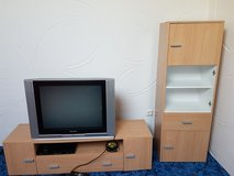 TV stand set in Ramstein, Germany