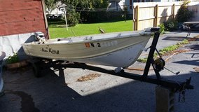 14 foot boat with trailer and motor in Fort Drum, New York