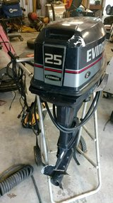 25 hp Evinrude outboard motor in The Woodlands, Texas