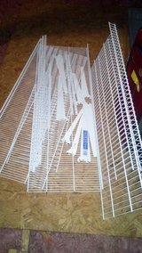 Wire Shelves, wall upright, brackets  for 5 shelves in Kingwood, Texas