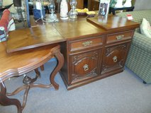 "MAHOGANY BUFFET WITH EXPANDABLE FOLDING TOP 40"" OR 60"" OR 80""W x 19""D x 32""H in Cherry Point, North Carolina"