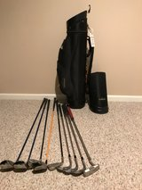 Travel Golf Bag with assorted clubs in West Orange, New Jersey