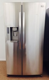 LG Stainless Steel Side by Side Refrigerator in Camp Pendleton, California