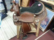 """Nice 17"""" Tooled Leather Western Saddle in Yucca Valley, California"""