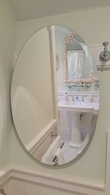 Frameless Oval Mirror w/Beveled Edge in Beaufort, South Carolina