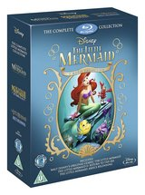 """Disney """"The Little Mermaid"""" 3-Movie Collection Blu-ray Box Set *** Sealed in Kingwood, Texas"""
